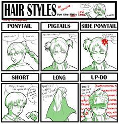 Hair Meme: Levi Rivaille :)) by sweetcandyteardrop.deviantart.com on @deviantART
