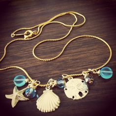 Summer Necklace 14k Gold Filled Necklace by MediterraneanWonders, $32.00