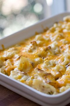 Roasted Cauliflower Gratin | girlgonegourmet.com
