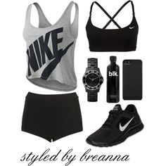 Gym Attire by breannamules on Polyvore featuring NIKE, Topshop, Marc by Marc Jacobs and Incase