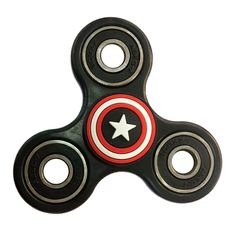 Tri Spinner Fidget Spinner Toy Plastic Captain EDC America Finger Hand Spinner and ADHD Relieve Stress Handspinner Toys SL139
