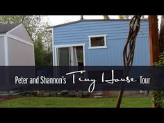 Peter and Shannon show off their innovative tiny house design and talk about their experiences with building it and living in it so far. See our one year upd. Tiny House Blog, Building A Tiny House, Tiny House Cabin, Tiny House Living, Tiny House Plans, Tiny House Design, Small Buildings, Small Houses, Travel Around The World