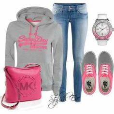 Casual sporty outfit courtesy of Stylish Eve on FBook.