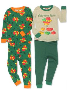 920406f639 hese super cute pajamas are sure to bring a smile to any boy s face. This sleepwear  set features his favorite Lego Duplo animal