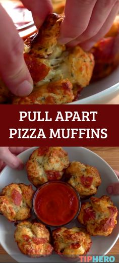 Pull Apart Pizza Muffin Recipe | You don't have to be a kid to enjoy this twist on the classic slice. Add your favorite toppings for a crowd pleasing treat. #appetizers
