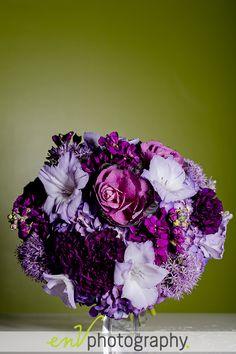 Perfect purple wedding flowers