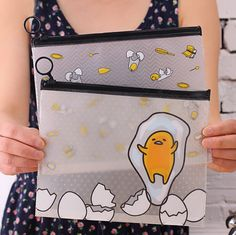 Find More File Folder Information about 22*18 cm Novelty Gudetama Lazy Egg Cartoon PVC Document Bag File Folder Stationery Organizer,High Quality bag travel organizer,China bag sample Suppliers, Cheap organizer messenger bag from House of Novelty on Aliexpress.com