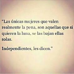 mujeres independientes