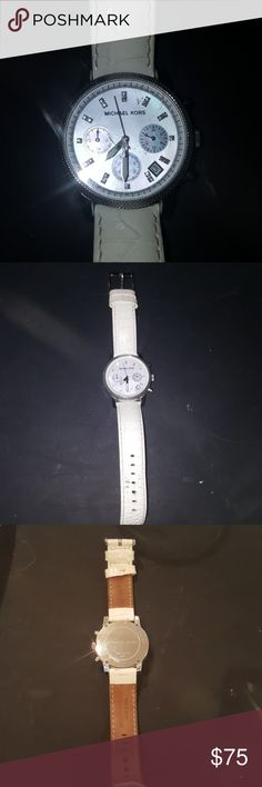 Michael Kors watch Cute white band Michael Kors watch with a little wear on the band, needs new battery Michael Kors Accessories Watches