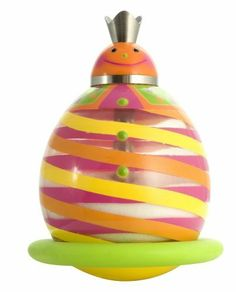 Sarut Py-tsugor 5-Inch by 4-Inch by 4-Inch Sugar-Shaker, 1-Pack, Multicolored by Sarut. $20.06. Use to sweeten your coffee or tea. Fun for the whole family. Measures 5-inch by 4-inch by 4-inch. Functional and decorative. Fun, creative design. Sweeten up your kitchen with this brightly painted tumble sugar pot. This jolly item features orange and and yellow stripes painted on the plastic body, a metal pour spout and a rubber base. Designed in France.