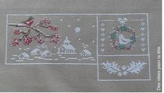 Christmas Cross, Vintage Christmas, Christmas Diy, Christmas Decorations, Cross Stitching, Cross Stitch Embroidery, Embroidery Patterns, Le Point, Cross Stitch Designs