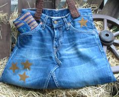 Jeanstasche ( aus alter Jeans) Madame, Alter, Purses And Bags, Recycling, Denim Shorts, Pants, Women, Fashion, Trouser Jeans