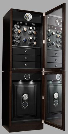 Watch Winders The Ultimate Watch Winder Guide CAM© △ Man's accessories Grand Collector Inbuilt by Buben & Zorweg Fore more inspirations: Safes, luxurysafes, luxurylifestyle, exclusive design, highendlifestyle
