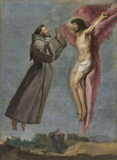 The Stigmatization of Saint Francis by Vicente Carducho 1576.