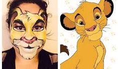 face painting simba - Pesquisa do Google