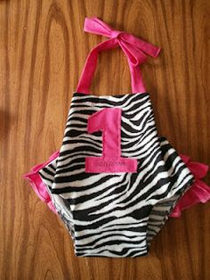 Forever Sew Cute: Zebra Print and pink Romper for 1st birthday outfit.  @Rainie Stover you could probably make this!