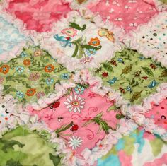 Meadow Friends Baby Rag Quilt by AngelasExpressions on Etsy