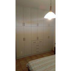 #closet #laminate #eltop #roustic #wood #grey #oak Grey Oak, Tall Cabinet Storage, Divider, Wood, Closet, Furniture, Home Decor, Armoire, Decoration Home
