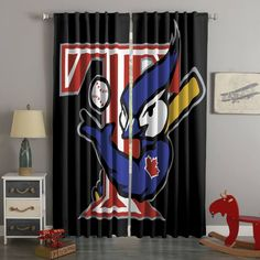 3D Printed Toronto Blue Jays Style Custom Living Room Curtains – Westbedding