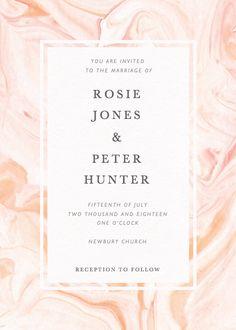 Blush Dusk Personalised Wedding Invitation