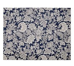 Layla Palampore Indoor/Outdoor Rug - Blue #potterybarn