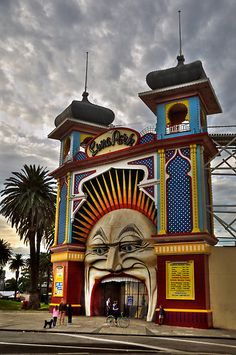 The terrifying face of Luna Park in St. Kilda, Melbourne