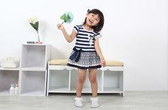 Aliexpress.com  Prodám klasické námořnické dětské oblečení   Girl krátký  rukáv dívčí krásné šaty   léto horké styl od spolehlivých dodavatelů dívka  šaty na ... eaf44fa461