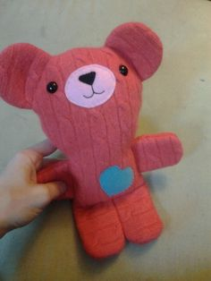 Stacey Trock from Fresh Stitches made this Pete the Bear from my free pattern. So cute!