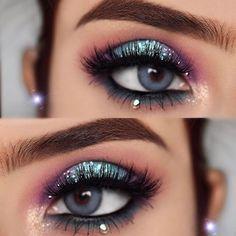 Eye Makeup Blue, Halo Eye Makeup, Exotic Makeup, Eye Makeup Remover, Makeup Brushes, Makeup Eyeshadow, Eyeshadows, Makeup Eyebrows, Pretty Makeup