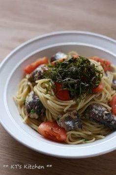 サーディンとトマトのレモン醤油パスタ|レシピブログ