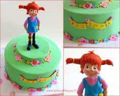 Pippi Longstocking cake עוגה מעוצבת עם דמות של בילבי