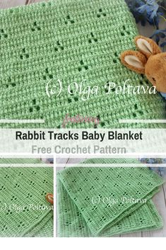 Easy Crochet Afghans Very Simple And So Pretty Rabbit Tracks Baby Blanket Free Crochet Pattern - Made with very simple stitches, this fabulous rabbit tracks baby blanket crochet pattern is the perfect choice for a light weight blanket or summer time. Crochet Baby Blanket Free Pattern, Crochet Baby Blanket Beginner, Afghan Crochet Patterns, Crochet Afghans, Baby Patterns, Baby Knitting, Free Crochet, Kids Crochet, Crochet Gifts