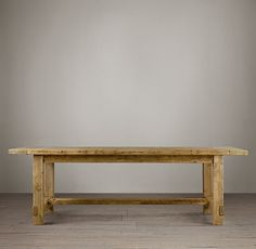 Farmhouse Salvaged Wood Rectangular Extension Tables Salvaged (Comes in other colors)