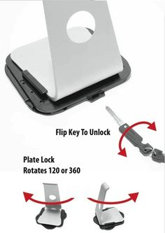 This high Security, iMac Security swivel Plate Lock, provides outstanding theft and safety protection for your iMac.