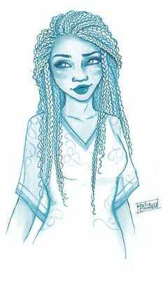 Iko in blue by Julie Crowell// I love her art. She actually draws the girls how they were described http://ibeebz.com