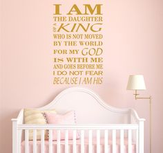 I Am The Daughter of A King Decals Biblical by EmpireCityStudios