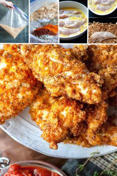 Crunchy, crispy and super dippable keto fried chicken! - Crunchy, crispy and super dippable keto fried chicken! Crunchy, crispy and super dippable keto fried chicken! Low Carb Keto, Low Carb Recipes, Diet Recipes, Cooking Recipes, Air Fryer Recipes Keto, Pork Rind Recipes, Super Healthy Recipes, Health Recipes, Healthy Dinners