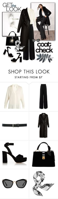 """""""Coat Check"""" by jacque-reid ❤ liked on Polyvore featuring Vince, Alexis, M&Co, Jil Sander, Miu Miu, Kenzo, kenzo, miumiu, jilsander and alexis"""