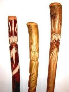 How to Carve a Wood Spirit in a Hiking Stick