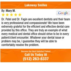 Dr. Patel and Dr. Fagin are excellent dentists and their team is very professional and...