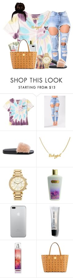"""""""10:17"""" by legendaryjordyn ❤ liked on Polyvore featuring Hollister Co., Givenchy, MICHAEL Michael Kors, Victoria's Secret, Bobbi Brown Cosmetics and MCM"""