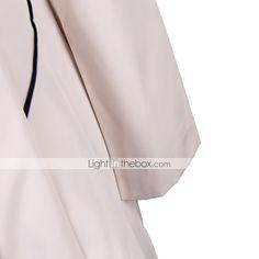 vrouwen solide gespleten knop ontwerp notch revers schede trenchcoat 2015 – €18.99