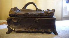 Pewter Casket Trinket Box #301  ////  Weidlich Brothers  #ShabbyChic #WeidlichBrothersManufacturingCompany