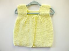 Newborn Vest/Knitted Baby Vest /Hand by sulemshiningblankets