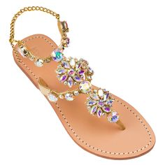 Mystique Sandals features unique hand crafted leather women's sandals that are embellished with jewelry Bling Sandals, Cute Sandals, Cute Shoes, Women's Sandals, Me Too Shoes, Look Fashion, Fashion Shoes, Mystique Sandals, Girls Shoes
