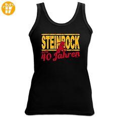 Sexy Tank Top mit Sternzeichen exklusiv zum 40. Geburtstag - Steinbock seit 40 Jahren - Ein tolles Geschenk! (*Partner-Link)