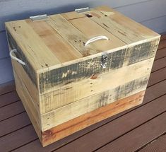 old used pallet chest