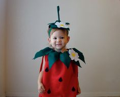 Strawberry Costume  Kids Costume Halloween Costume Childrens Costume. $65.00, via Etsy.
