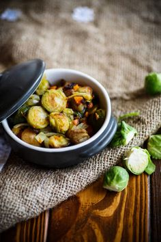 brussels sprouts roasted with vegetables and beans