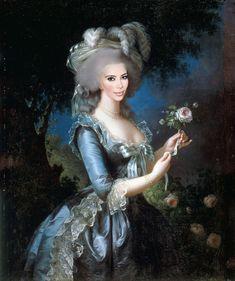 StArt : Mashup entre des peintures classiques et des stars. Kim Kardashian et Marie Antoinette. KimK